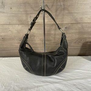 Coach Vintage Black Leather Hobo Bag